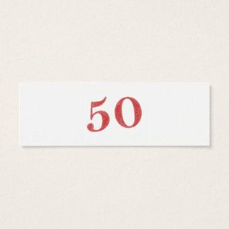 50 years anniversary mini business card