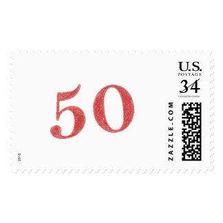 50 years anniversary postage