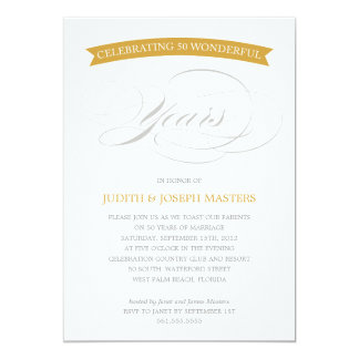50 YEARS BANNER | 50TH ANNIVERSARY INVITATION
