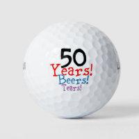 50 Years Beers Tears Golf Balls