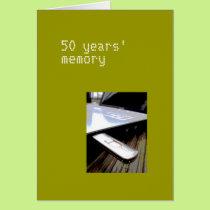 50 years card