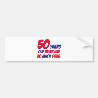 50 years design bumper stickers