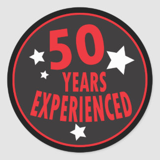 50 Years Experienced | 50th Birthday Classic Round Sticker