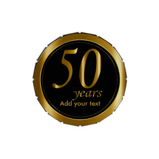 50 Years in Black and Metallic Gold | 50th Jelly Belly Tin