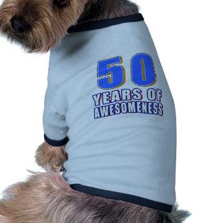 50 Years of Awesomeness Dog Tee Shirt