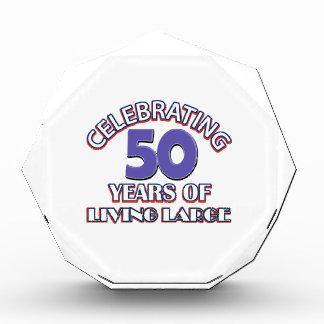 50 years of living large birthday designs acrylic award