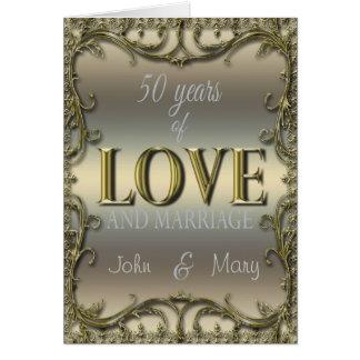 50 Years of Love Greeting Card