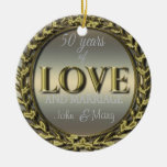 50 Years of Love ID196 Ceramic Ornament
