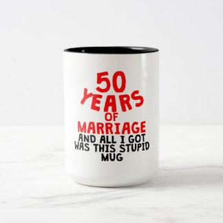 50 Years Of Marriage Two-Tone Coffee Mug