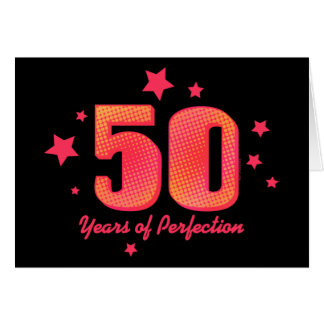 50 Years of Perfection Custom Birthday Card