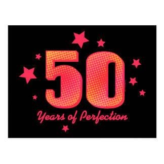 50 Years of Perfection Postcard