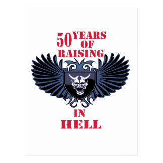 50 years of raising in hell postcard