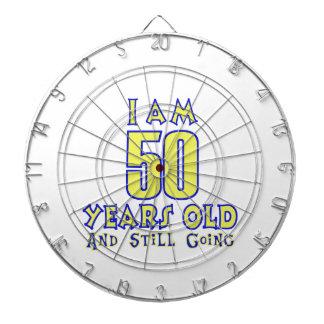 50 YEARS OLD BIRTHDAY DESIGNS DART BOARD