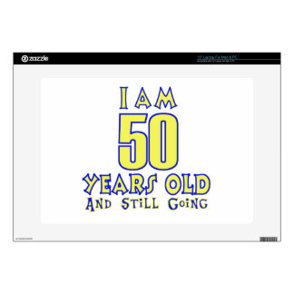 50 YEARS OLD BIRTHDAY DESIGNS DECAL FOR LAPTOP
