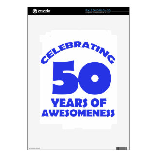 50 YEARS OLD BIRTHDAY DESIGNS DECALS FOR THE iPad 2