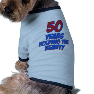 50 years old birthday designs dog tshirt
