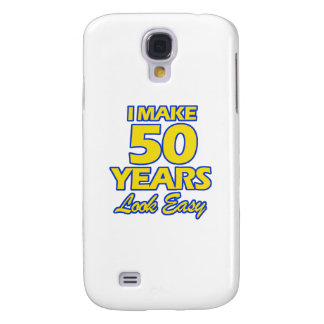 50 YEARS OLD BIRTHDAY DESIGNS GALAXY S4 COVER