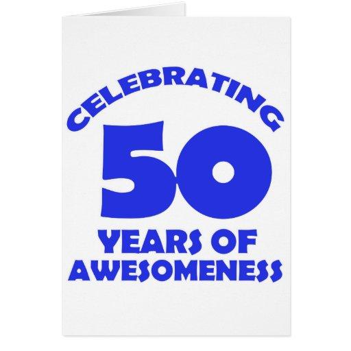 50 YEARS OLD BIRTHDAY DESIGNS GREETING CARD