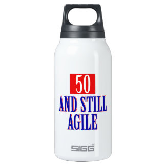 50 years old birthday designs insulated water bottle