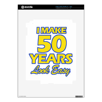 50 YEARS OLD BIRTHDAY DESIGNS iPad 2 DECALS
