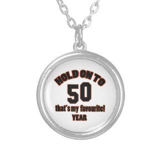 50 years old birthday designs custom necklace
