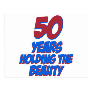 50 years old birthday designs postcard