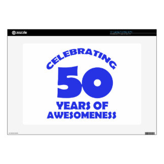 """50 YEARS OLD BIRTHDAY DESIGNS SKIN FOR 15"""" LAPTOP"""