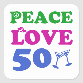 50 years Old birthday designs Square Sticker