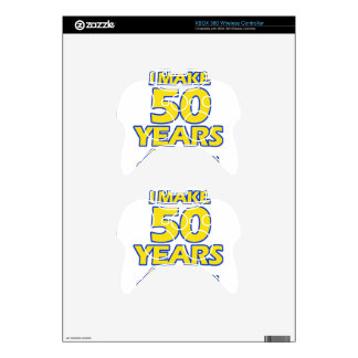 50 YEARS OLD BIRTHDAY DESIGNS XBOX 360 CONTROLLER SKIN