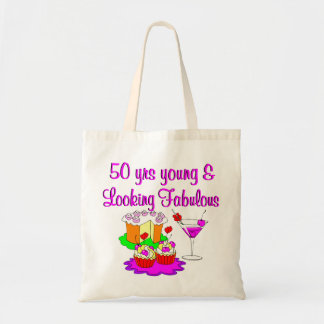 50 YEARS YOUNG TOTE BAG