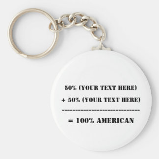 50% (Your Text Here) Keychain