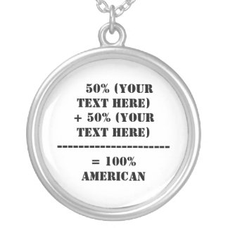 50% (Your Text Here) Round Pendant Necklace