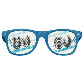 50 yr Bday Striped 50th Birthday Retro Sunglasses