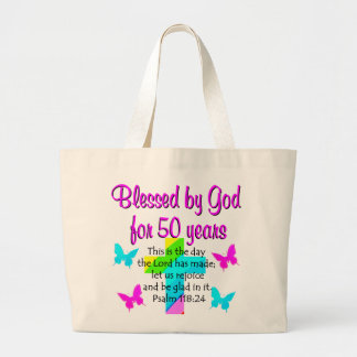 50 YR OLD PRAYER LARGE TOTE BAG