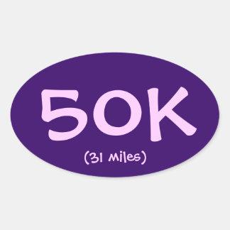 50K (31 miles) Sticker