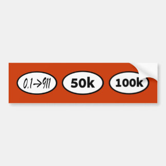 50k etiqueta de parachoque