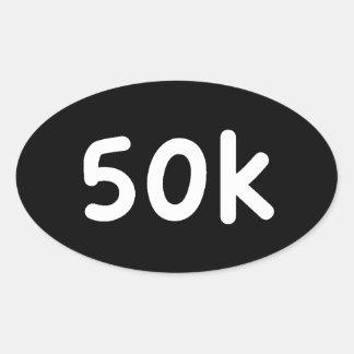 50k pegatina ovalada