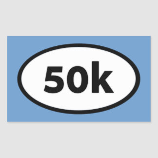 50k rectangular sticker
