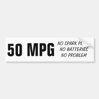 50MPG diesel Etiqueta De Parachoque