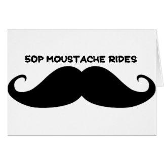 50p Moustache Rides Card