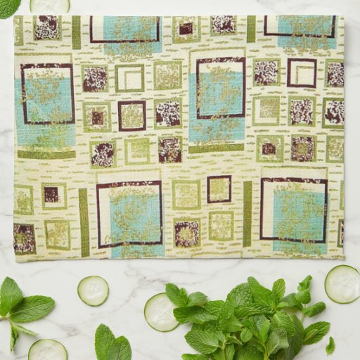 50s Barkcloth Kitchen Towels