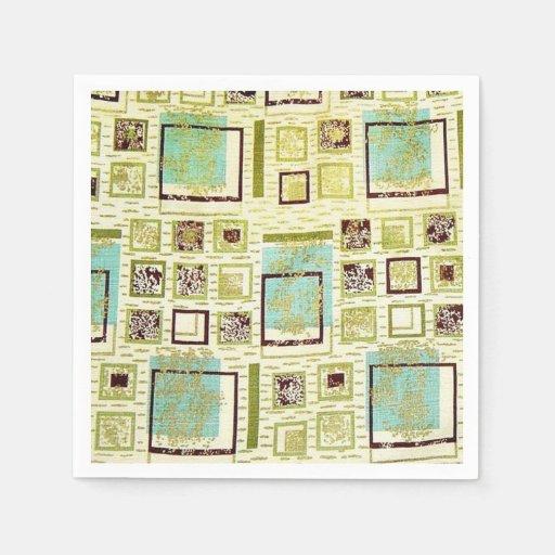 50s Barkcloth Paper Napkins