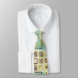 50s Barkcloth Tie