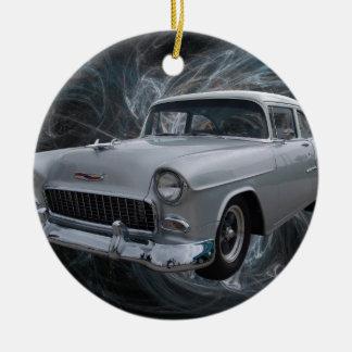 50s chevy1 .jpg ceramic ornament