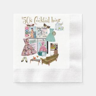'50s Cocktail hour napkins