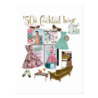 '50s Cocktail hour Postcard