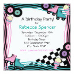 50's Diner Party Birthday 5.25x5.25 Square Paper Invitation Card