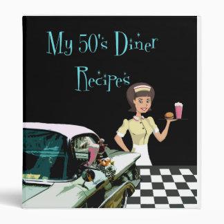 50's Diner Recipe Avery Binder
