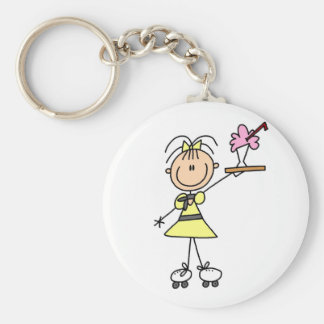 50's Drive-In Waitress T-shirts and Gifts Basic Round Button Keychain