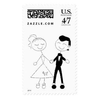 50's Fifties Theme Wedding Vintage Weddings Postage Stamp